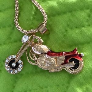 Motorcycle necklace 2.25 x 1.25.